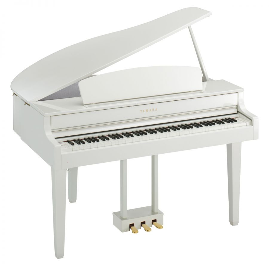 White Baby Mini Grand Piano-14488