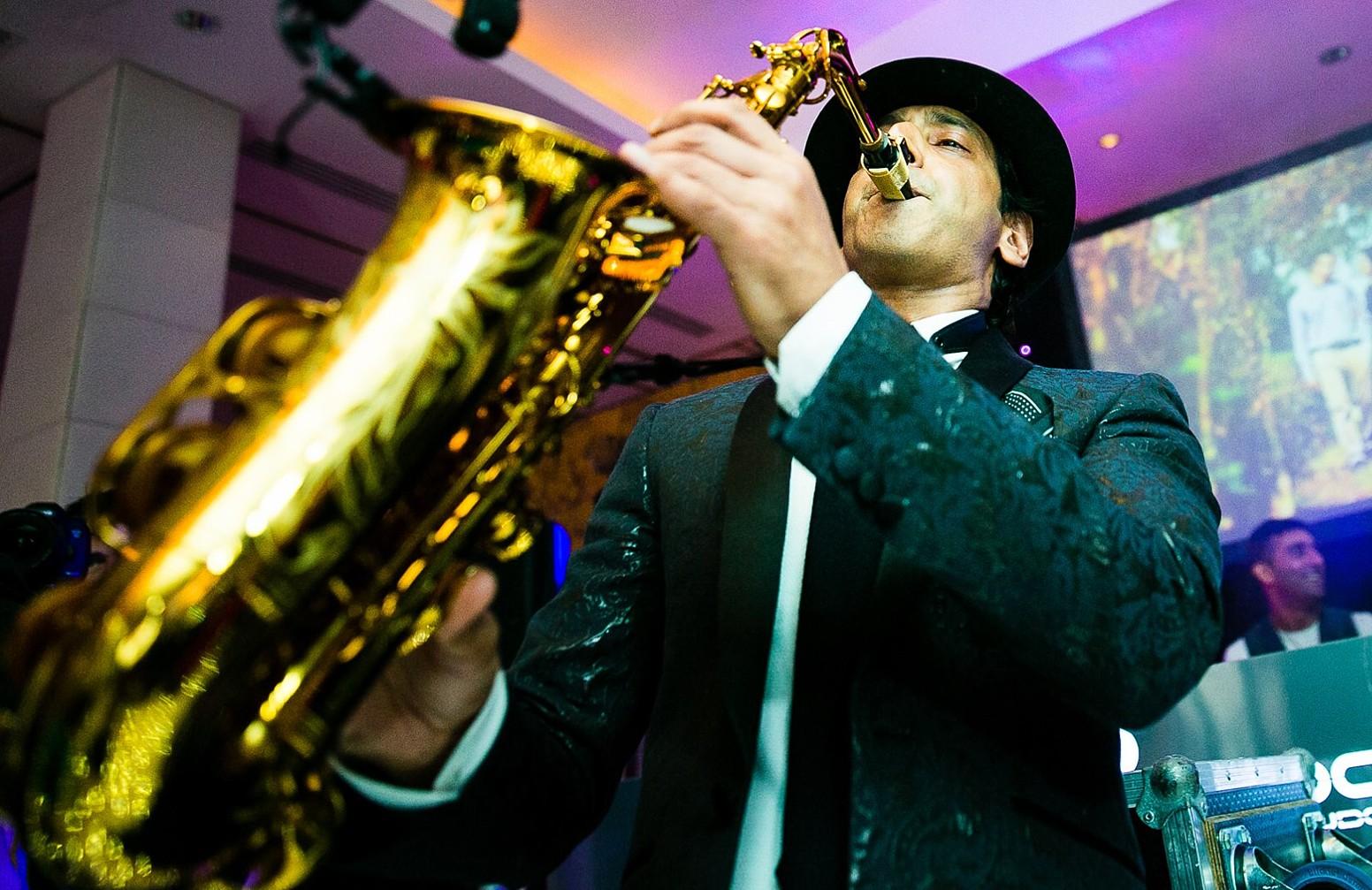 Asian Bollywood Saxophonist