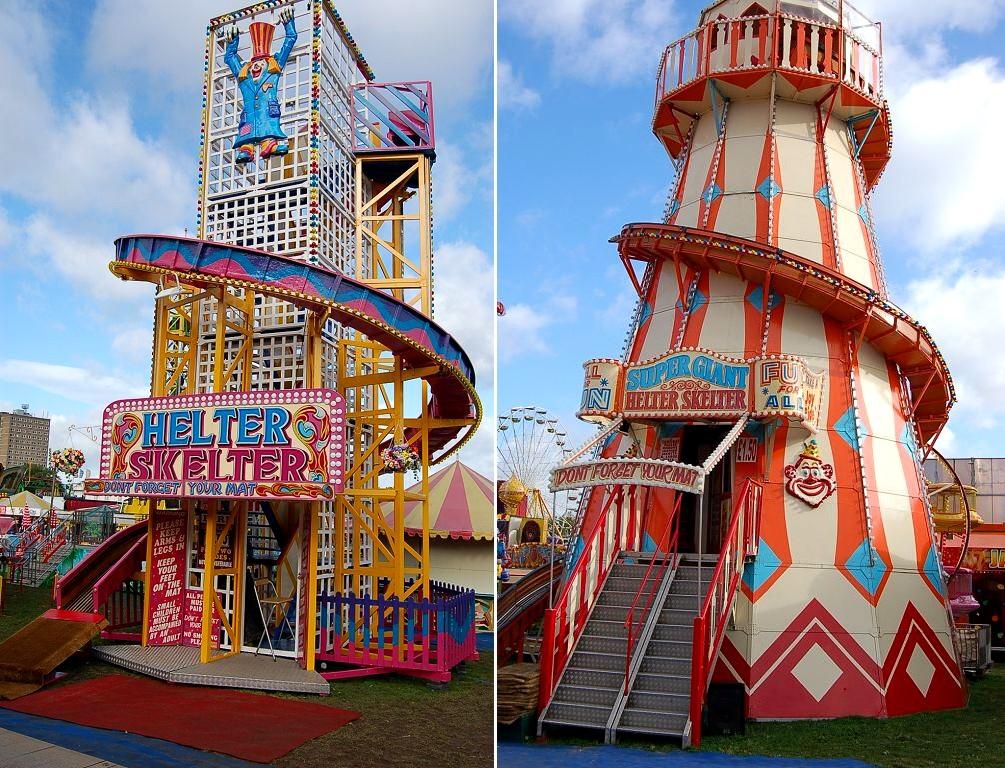 Helter Skelter Funfair Ride-20066