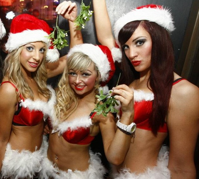 Video santas party girls