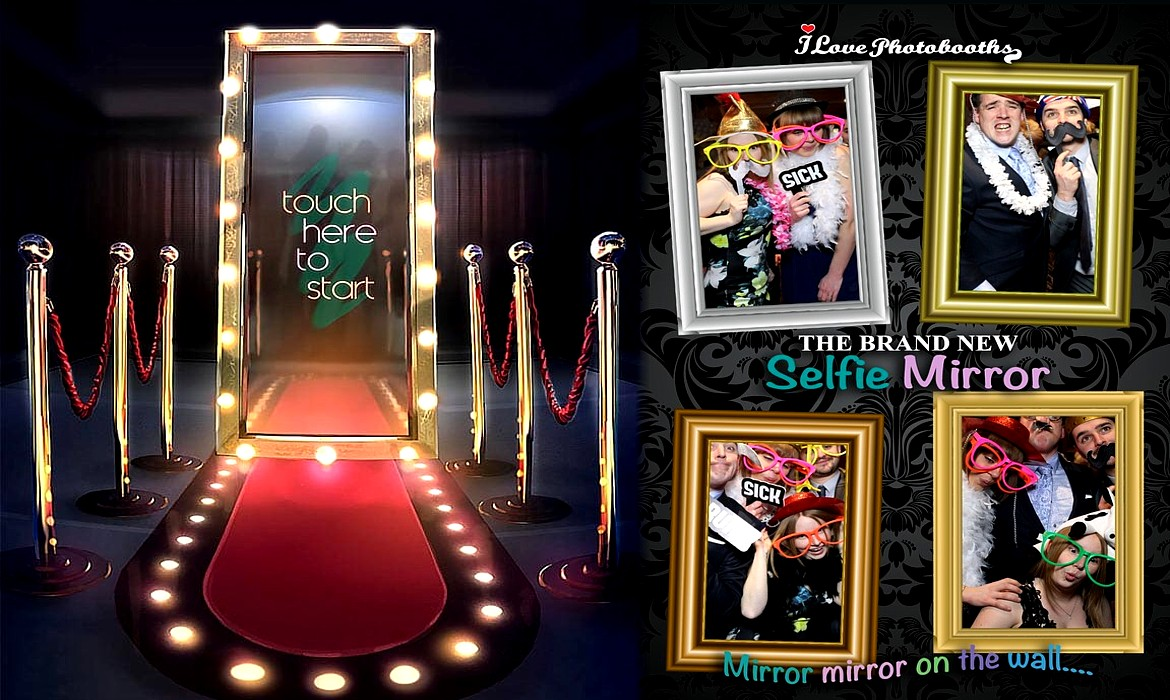 Photo Booth Hire, Selfie Magic Mirror, Photobooth for Weddings